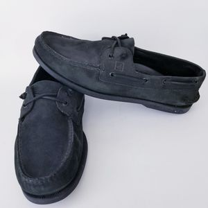 Sperry mens black top sider  boat shoes size 12